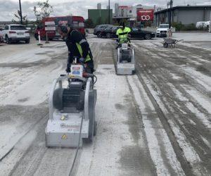 Frezowanie powłok żywicznych oraz betonu